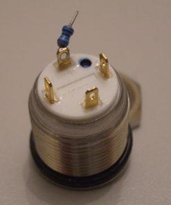 LED Taster blau vandalensicher Edelstahl Ø 16mm IP65