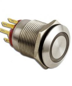 LED Taster gelb vandalensicher Edelstahl Ø 19mm IP65