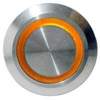 LED Taster orange vandalensicher Edelstahl Ø 19mm IP65