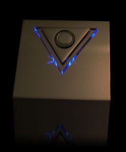 Designer Klingel Messing mit LED bel Dreieck Aufsatz