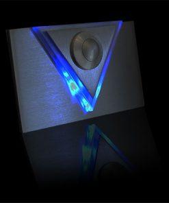 Designer Klingel Messing bel LED Glas und Aufsatz Dreieck