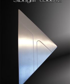 Stoßgriff Dreieck mit gestrahlten Verzierungen Edelstahl