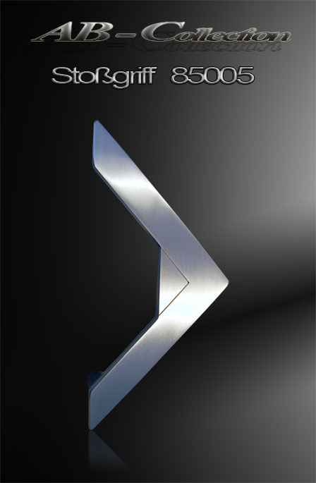 Stoßgriff  Dreieck mit gestrahltem Dreieck Edelstahl