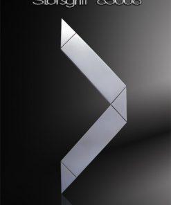 Stoßgriff Dreieckform Edelstahl zusätzlich gestrahlt
