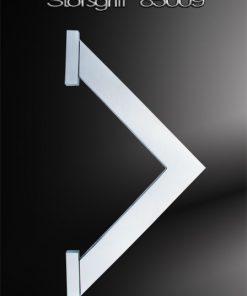 Stoßgriff Dreieckform mit gefrästen Endstücken Edelstahl