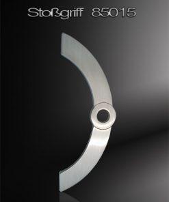 Stoßgriff als Kreisbogen mit integriertem Kreisausschnitt Edelstahl