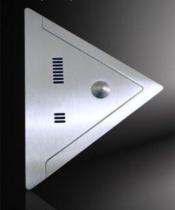 Sprechplatte Dreieck massiv Edelstahl parallel gefräst
