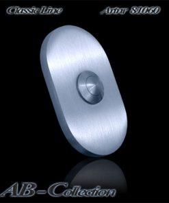 Klingel oval klein massiv 6 mm Edelstahl