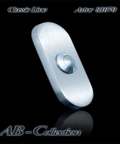 Klingel oval schmal massiv 6mm Edelstahl
