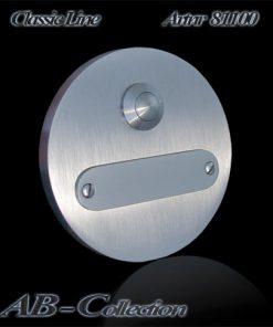 Klingel rund mit Wechselschild massiv 6mm Edelstahl