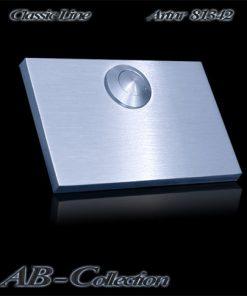 Klingelplatte rechteckigmassiv 6mm V2a