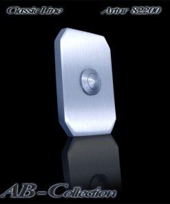Klingel Tessin schlanke Form massiv 6mm Edelstahl