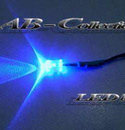 LED Diode blau 5 mm fertig verkabelt
