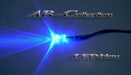 LED Diode blau 5 mm fertig verkabelt