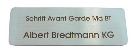 Avant Garde Md BT: Lasergravur 16 auf Edelstahl