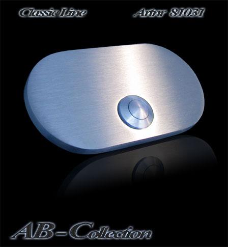 Klingel oval massiv 6mm Edelstahl gravurfähig