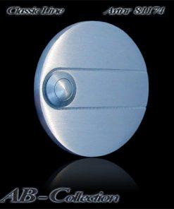 Klingel mit Zierrille 80mm, massiv 6mm Edelstahl