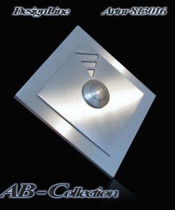 Designer Klingel Edelstahl mit Rautenaufsatz Triangel