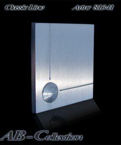 Klingel mit geometrischen Zierlinien massiv 6mm Edelstahl