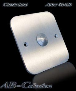Klingel Edelstahl quadratisch auf Unterputzdose