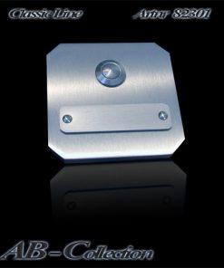 Klingel Tessin mit Wechselschild massiv 6mm Edelstahl