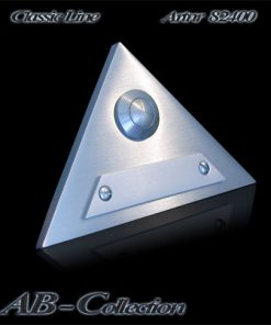 Klingel Dreieck mit Wechselschild massiv 6mm Edelstahl