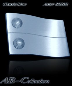 Klingelplatte massiv Edelstahl 6 mm  in Wellenform