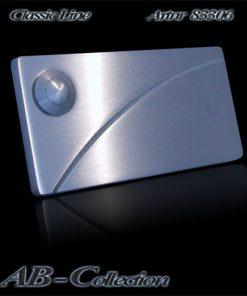Klingel mit gestrahltem Diagonalbogen massiv 6mm Edelstahl