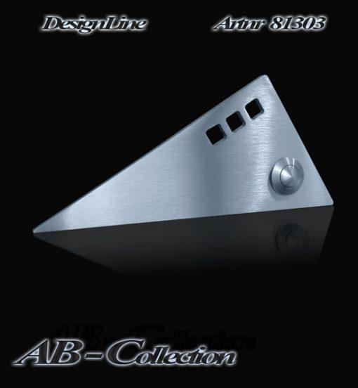 Designer Klingel Dreieck lang mit 3 Ausschnitten