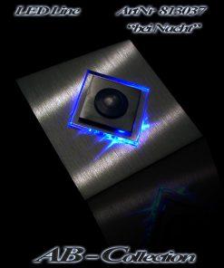 Klingel mit LED beleuchtetem Glas als Rautenaufsatz