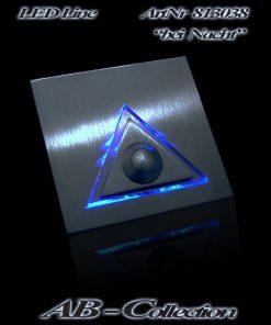 Klingel mit LED beleuchtetem Glas und Ausatz Dreieck