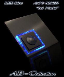 Klingel mit LED beleuchtetem Glas und versetztem Karo Aufsatz