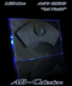 Klingel massiv Edelstahl mit LED beleuchtetem Acrylglas Bogen