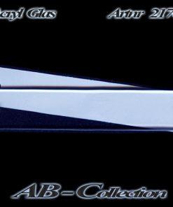 Klingelschild als Aufschraubschild Acrylglas Lausanne manuell beschriftbar