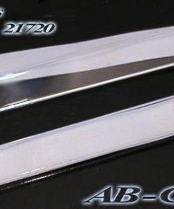 Aufschraubschild Acrylglas kristallklar für Bilderrahmen manuell beschriftbar