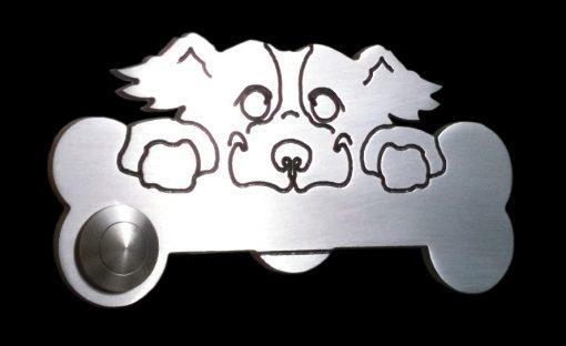 Hund 2 Klingel Messing