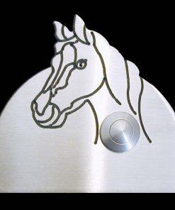 Pferdekopf Klingel Messing