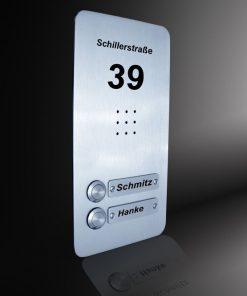 Sprechplatte Wiesbaden massiv Edelstahl 2-Familienhaus