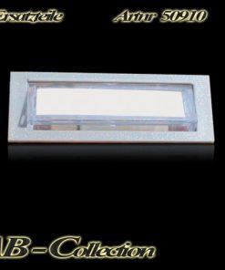 Klingeltaster beleuchtet Kunststoff silbermetallic beschriftbar