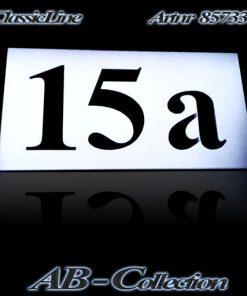 Hausnummer Serie 85700 dreistellig Nr.: 111 bis 999 kombiniert mit abcd..