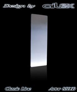 Haustürgriff Classic langes Rechteck massiv Edelstahl