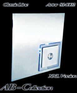 Klingel Edelstahl XXL mit LED beleuchtetem Acryl Karo