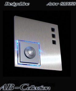 Designer Klingel quadratisch Edelstahl mit bel LED Aufsatz und 3 Auschnitten