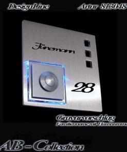 Klingel quadratisch massiv Edelstahl sowie LED Aufsatz incl. Gravur