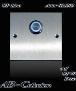 Klingel Edelstahl quadratisch auf Unterputzdose 70mm