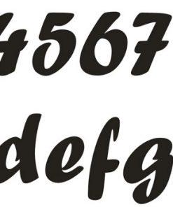 Hausnummer Serie Antik Edelstahl