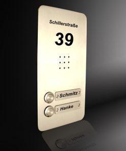 Sprechplatte Wiesbaden Zweifamilienhaus Messing