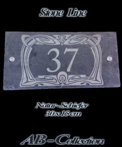 Hausnummer Naturschiefer Antik