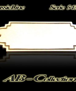 Namensschild Serie Stuttgart mit umlaufender Zierille Messing in diversen Größen