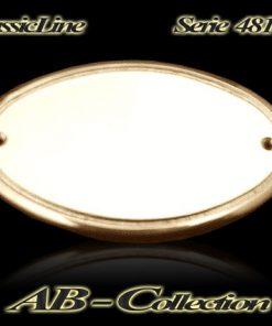 Namensschild Serie Oval  massiv Messing in diversen Größen